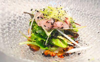 Ensalada de Sashimi de Lubina