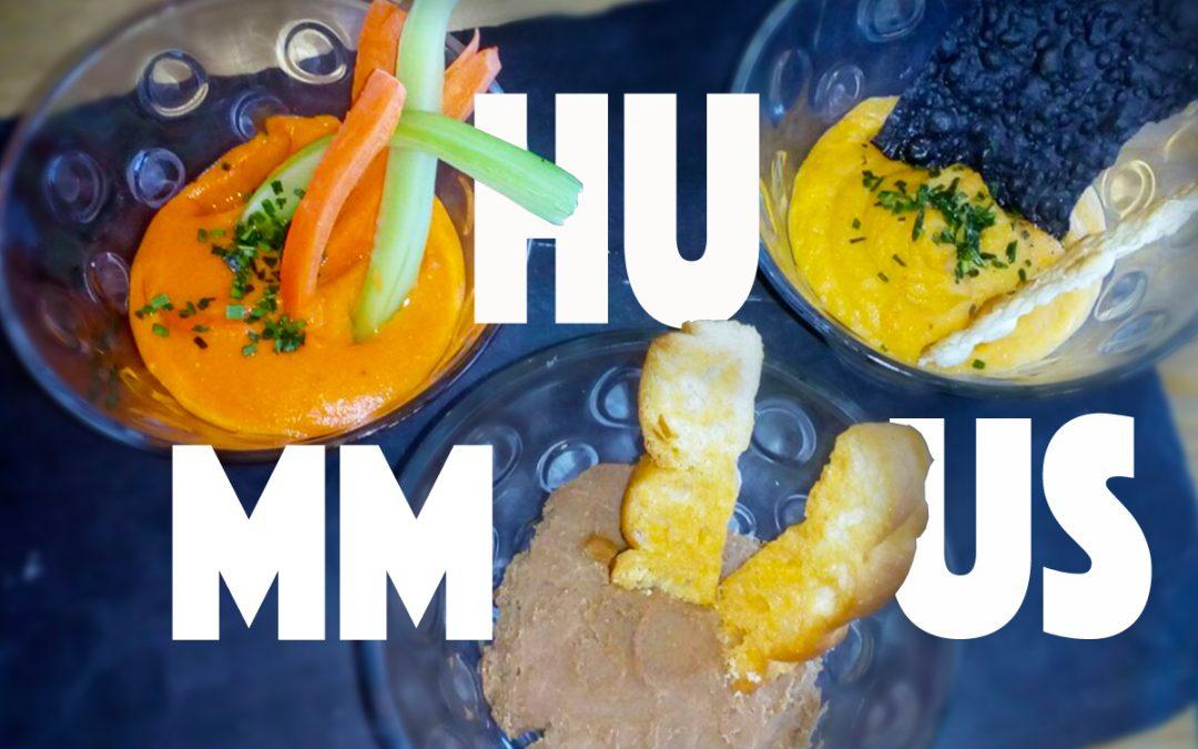 Pica un poco de cada: trío de hummus