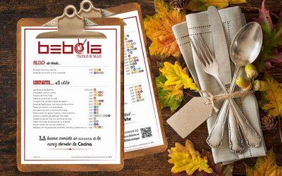 Productos otoñales en la carta de Bebola